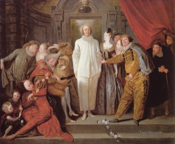 Les Comediens italiens Jean Antoine Watteau Oil Paintings
